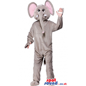 Elephant Mascot With Comfortable Option For Your Hands - Custom