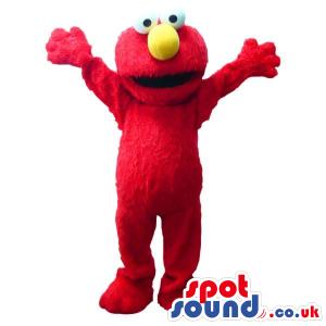 Red And Hairy Elmo Sesame Street Tv Cartoon Character - Custom