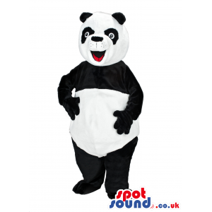 Customizable Happy Panda Bear Animal Plush Mascot - Custom