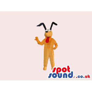 Customizable Brown Dog Mascot Like Disney'S Pluto - Custom