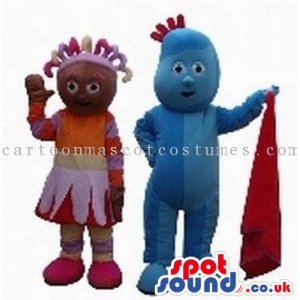 Special Boy And Girl Creature Couple With A Red Cloth - Custom