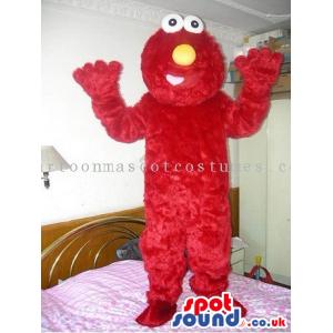 Red Elmo Hairy Sesame Street Tv Series Character Mascot -