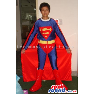 Superman Costume In Varied Sizes For Halloween And Events -