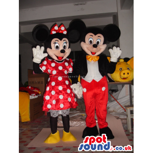 Mickey And Minnie Mouse Couple Classic Cartoon Character