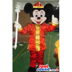 Mickey Mouse Disney Cartoon Character Wearing Exotic Clothes -