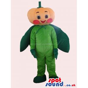 Customizable Sweet Pumpkin Vegetable Mascot With A Cute Face -