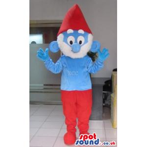 It Smurfs Daddy Smurf Character Tv Cartoon Mascot - Custom