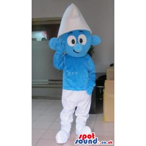It Smurfs Smurfy Blue Character Tv Cartoon Mascot - Custom
