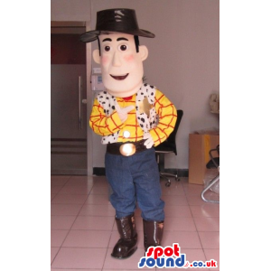 Toy Story Animation Movie Woody Cowboy Character Mascot -