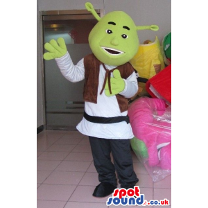 Shrek The Green Ogre Popular Movie Character Mascot - Custom