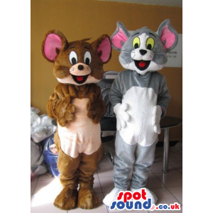 Tom And Jerry Cat And Mouse Couple Cartoon Character Mascots -