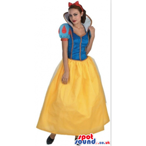 Snow White Adult Girl Beautiful Costume Halloween Disguise -