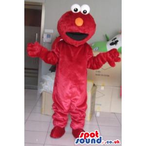 Elmo Red Character Mascot From Tv Show Sesame Street - Custom