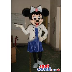 Minnie Mouse Disney Mascot Wearing Flight Attendant Mascot -