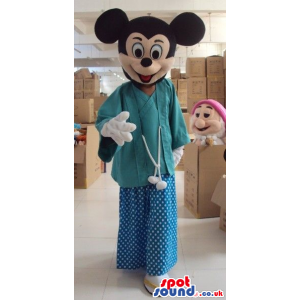 Mickey Mouse Disney Cartoon Character Wearing Doctor Clothes -