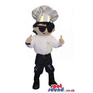 Cool Chef Or Cook Human Character Mascot Wearing Sunglasses -