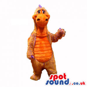 Customizable All Red And Yellow Dragon Plush Mascot With Big