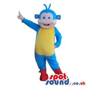 Blue Monkey Dora The Explorer Plush Character Mascot - Custom