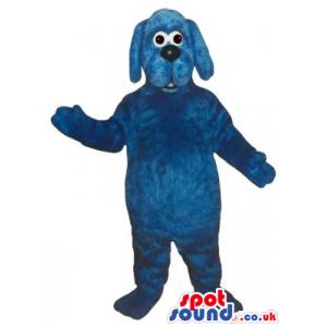 Customizable All Blue Dog Pet Friend Animal Plush Mascot -