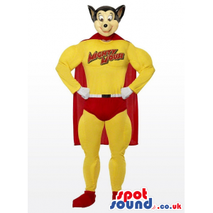 Popular Mighty Mouse Cartoon Character Super Hero Mascot -