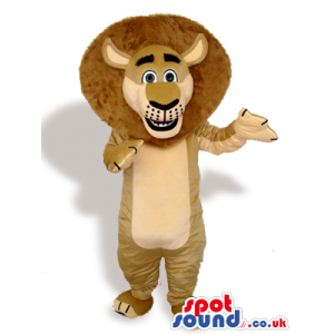Amazing Beige Lion Cartoon Animal Plush Character Mascot -