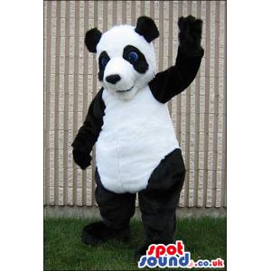 Panda Bear Exotic Animal Plush Mascot With Blue Eyes - Custom