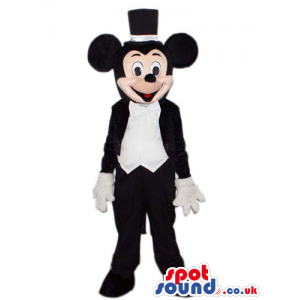 Mickey Mouse Cartoon Character Mascot With Elegant Clothes -