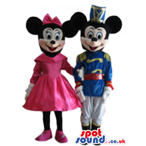 Mickey Mouse Cartoon Character Mascot With Prince Clothes -