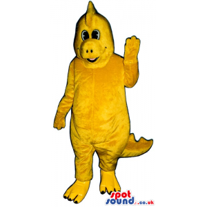 Customizable Yellow Dinosaur Plush Mascot With Comb - Custom