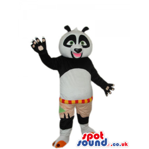 Kung Fu Panda Movie Character Plush Mascot With Open Pink Mouth