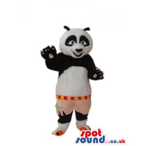 Kung Fu Panda Movie Character Mascot With Brown Shorts - Custom