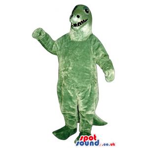 Green Dinosaur Plush Mascot With Small Sharp Teeth - Custom