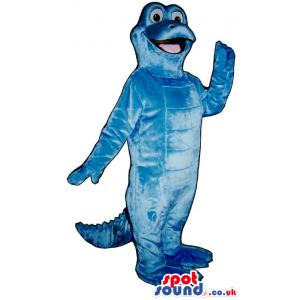 Customizable Plain Cute All Blue Alligator Plush Mascot -