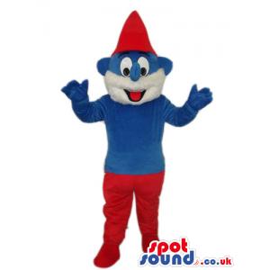 Daddy Smurf Smurfs Tv Cartoon Series Character Mascot - Custom