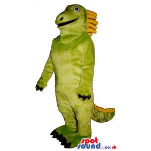 Customizable Green And Yellow Dinosaur Plush Mascot - Custom