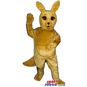 Cute All Light Brown Kangaroo Plush Animal Mascot - Custom