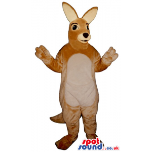 Customizable Brown Kangaroo Mascot With A Beige Belly - Custom