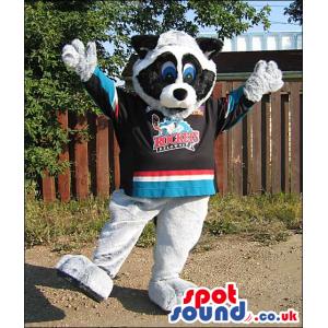 Cute Panda Bear Animal Plush Mascot Wearing Sports Shirt -