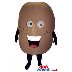 Laughing Potato Vegetable Food Mascot With Big Smile - Custom