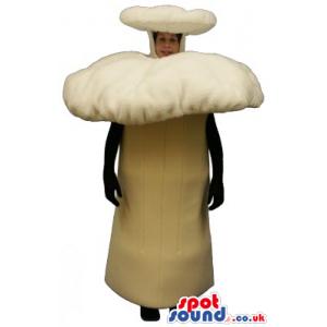 Big Forest Beige Mushroom Plush Mascot Or Halloween Costume -