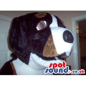 Brown And White Big Dog Mascot Plush Head - Custom Mascots