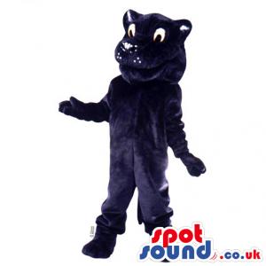 Customizable Cute All Black Cat Animal Plush Mascot - Custom