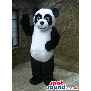 Cute Panda Bear Plush Mascot With Black Eye Circles - Custom