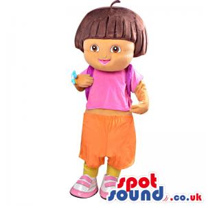 Dora The Explorer Popular Children'S Tv Series Character Mascot