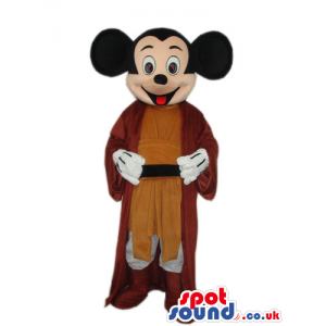 Mickey Mouse Disney Character With Medieval Brown Garments -