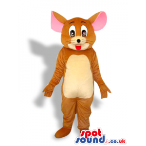 Tom And Jerry Cartoon Character Plush Mascot With Pink Ears -