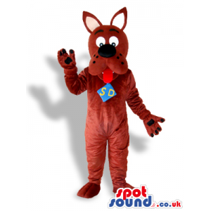 Scooby-Doo Brown Dog Character Mascot From It Popular Cartoon -