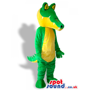 Cool Green And Yellow Crocodile Animal Plush Mascot - Custom