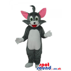 Tom Grey Cat Mascot From It Tom And Jerry Cartoon Series -