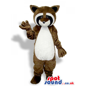 Brown Raccoon Animal Plush Mascot With A White Belly - Custom